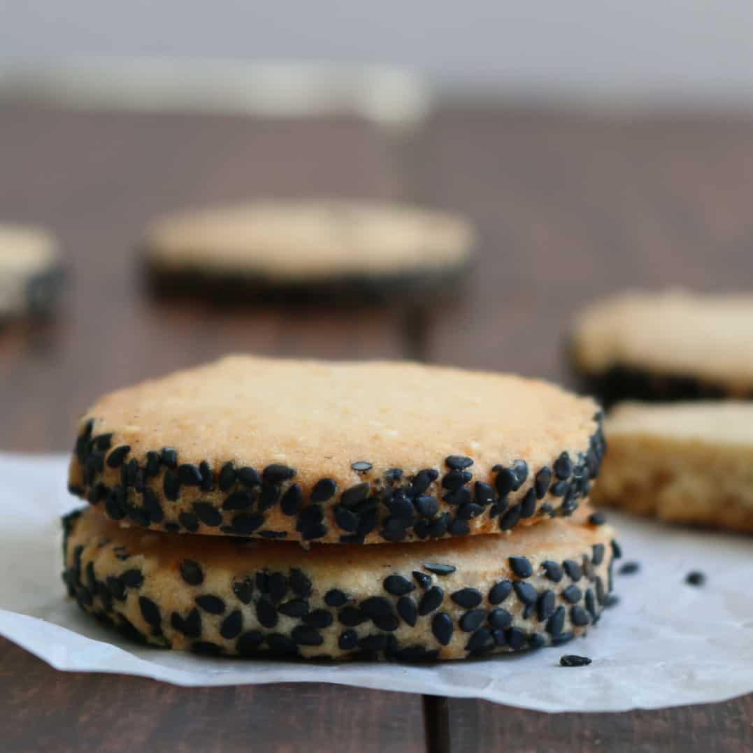 Black and White Sesame Shortbreads