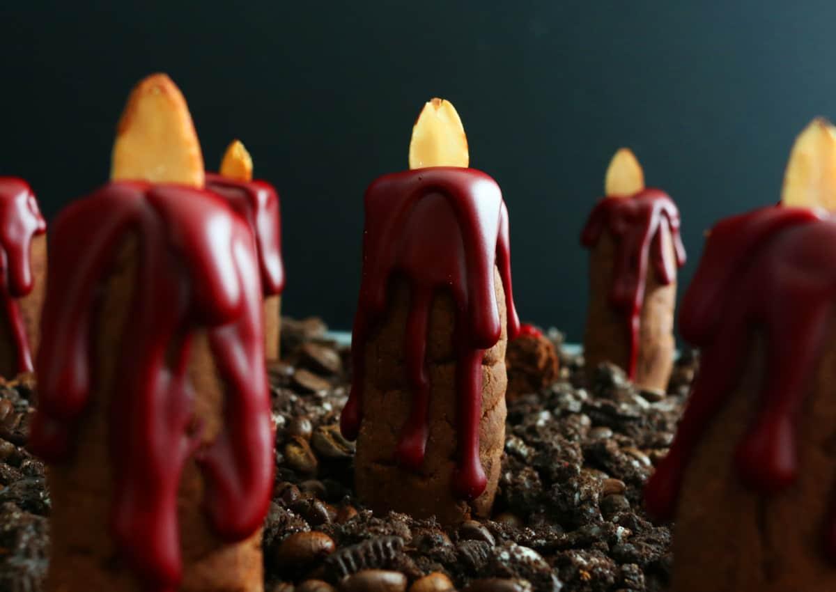Bleeding Candle Cookies