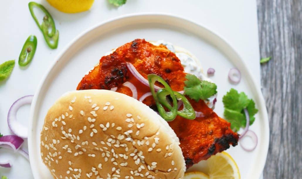 Tandoori Chicken Sandwiches