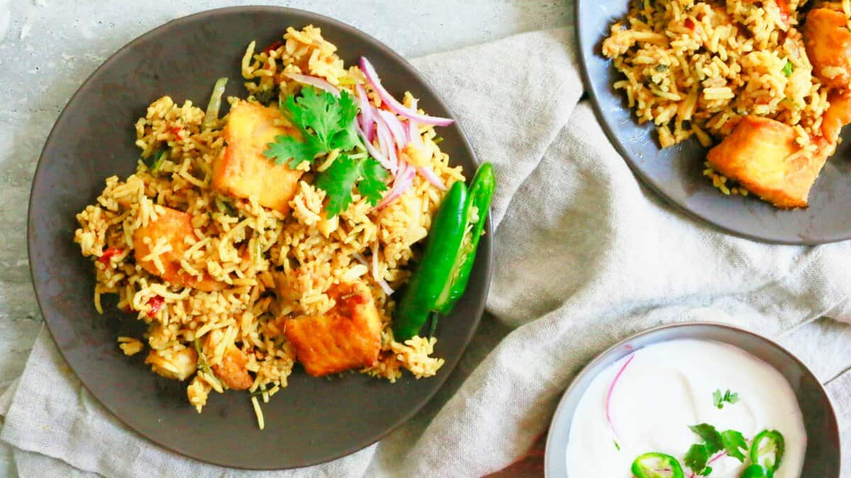 Weeknight fish biryani with leftover rice kitchen for Leftover fish recipes