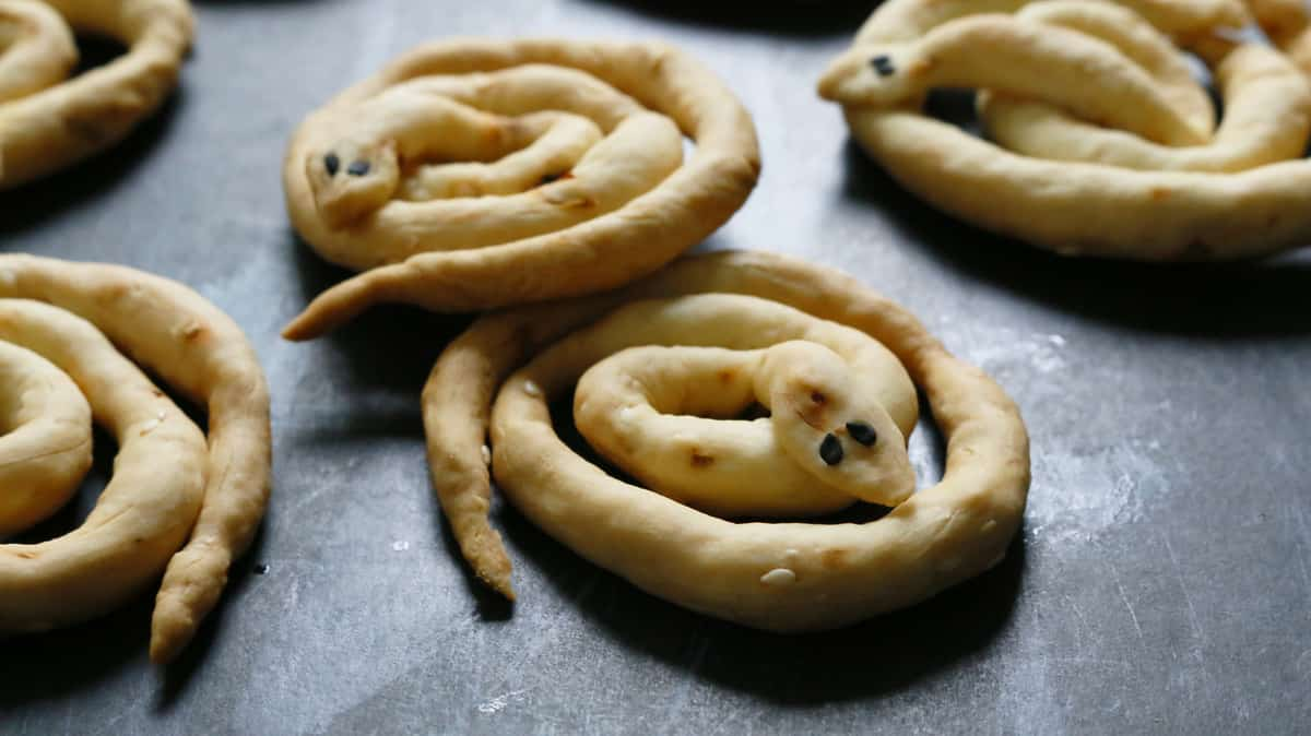 Spicy Sesame Snake Breadsticks Kitchen Hoskins