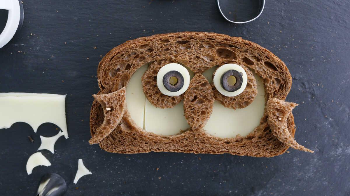 owl Grilled Cheese Halloween Sandwich