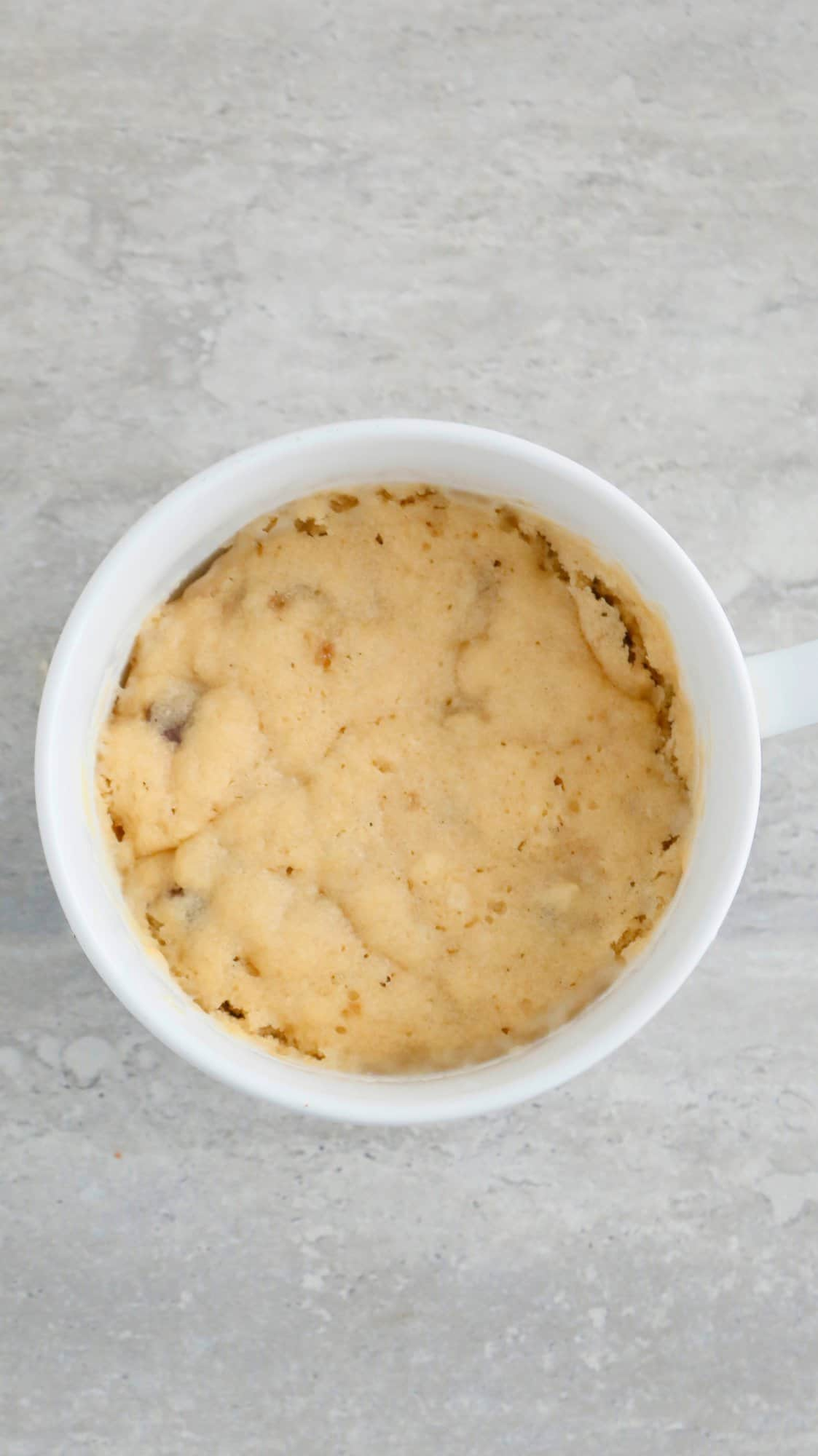 chocolate chip cookie mug cake