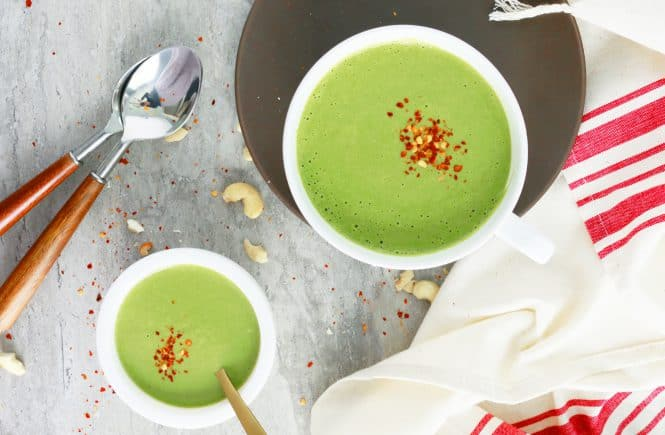 curried cashew spinach soup