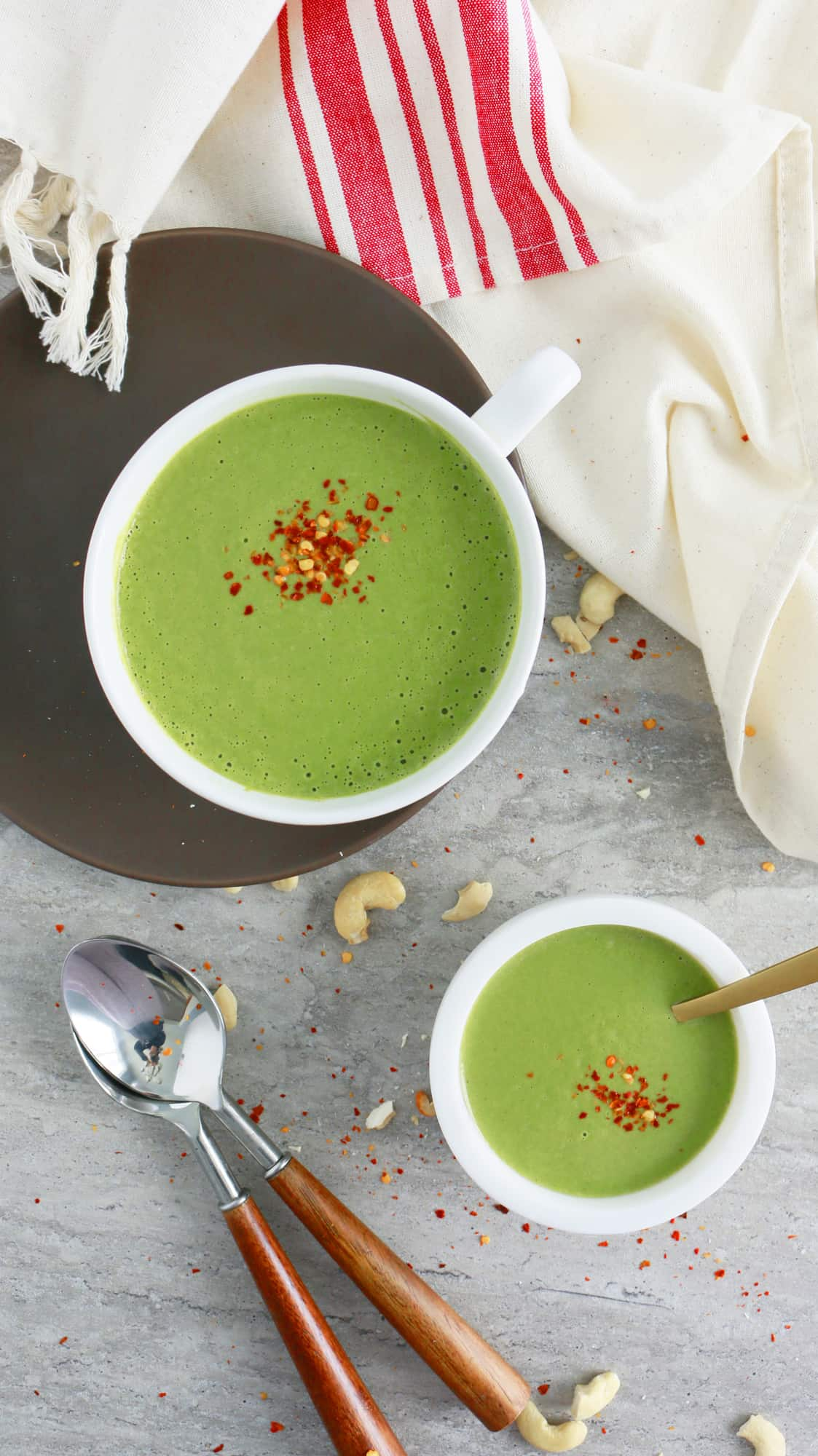 Curried Cashew Spinach Soup - Kitchen @ Hoskins
