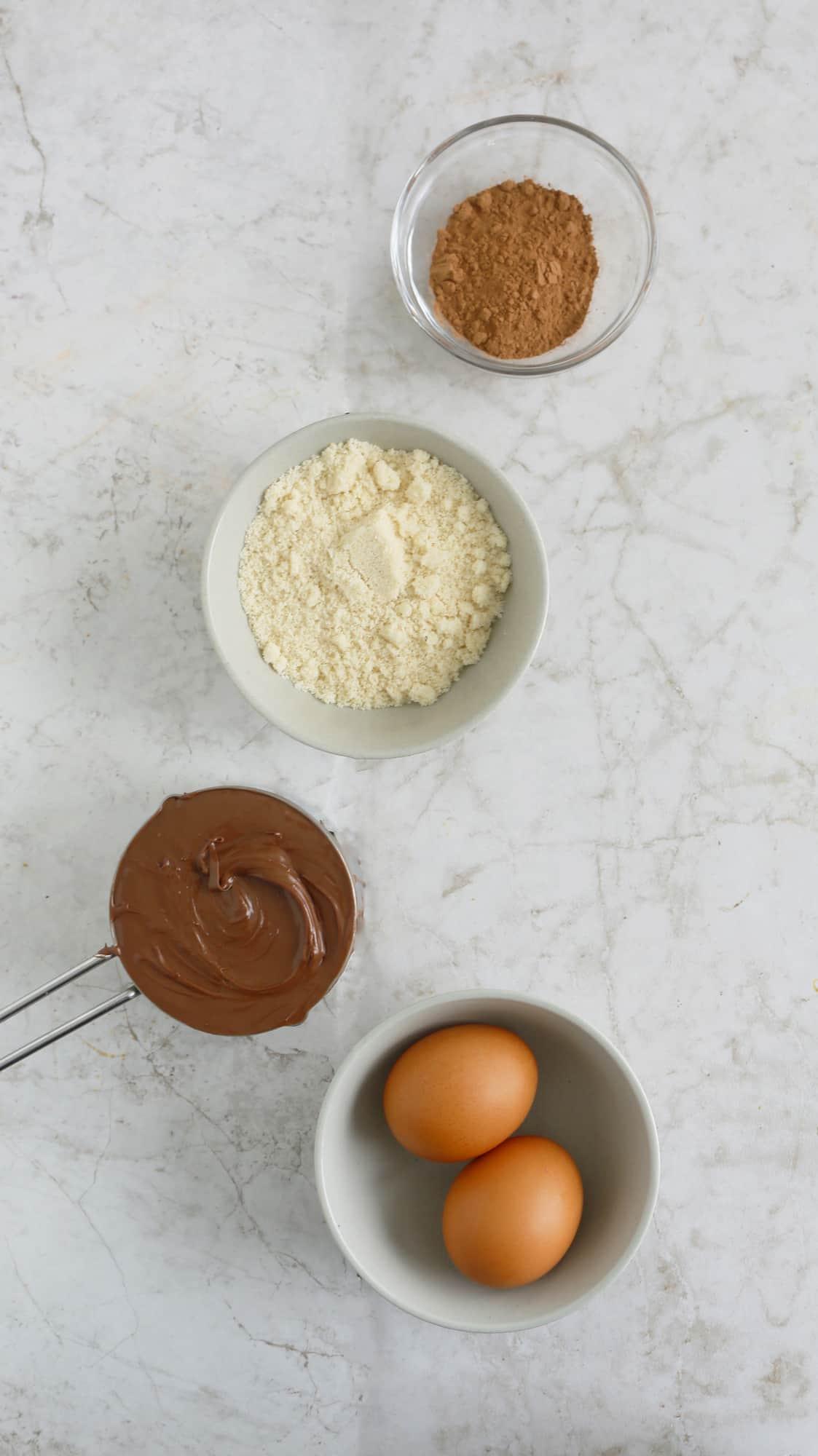 ingredients to make nutella brownies