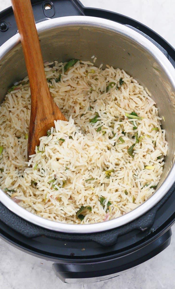 cilantro lime rice in instant pot