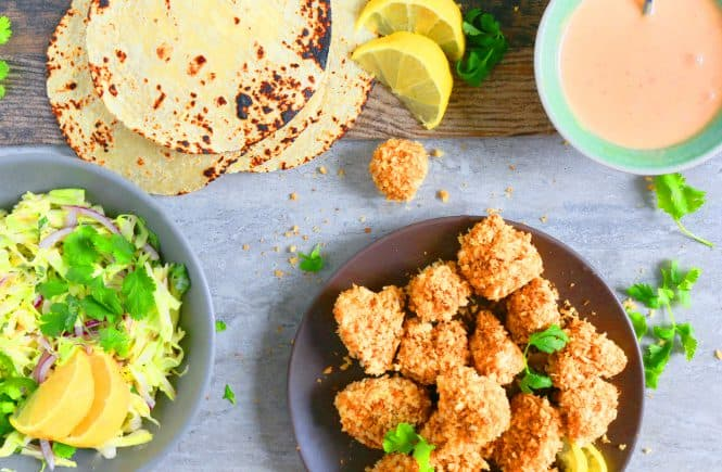 bang bang cauliflower tacos