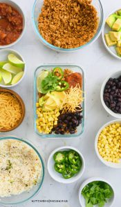 CHICKEN BURRITO BOWL MEAL PREP