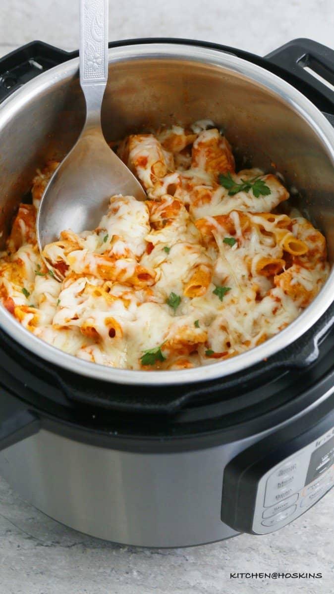 chicken parmesan pasta in instant pot
