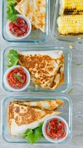 spicy chicken ranch quesadilla