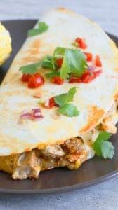 spicy chicken ranch quesadilla