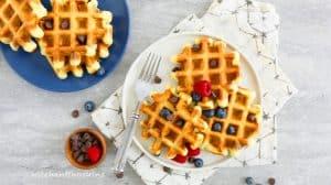 HEALTHYISH avocado waffles