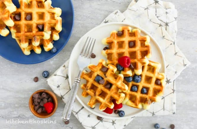 HEALTHYISH avocado waffles