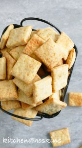 homemade parmesan cheese crackers
