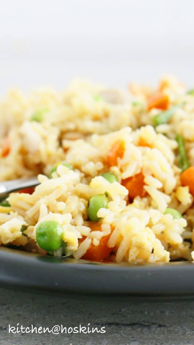 chicken fried rice in instant pot