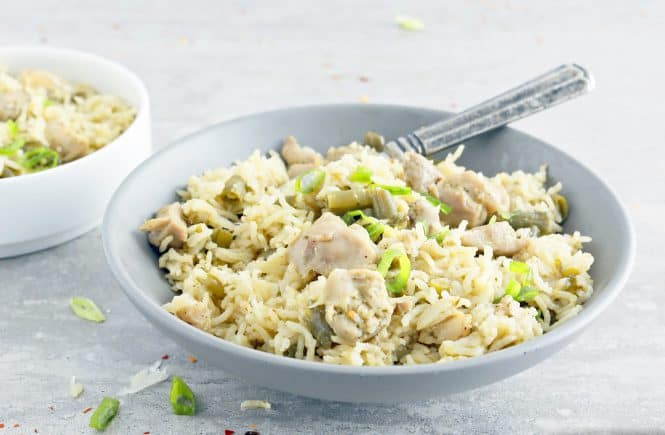 instant pot chicken pesto rice