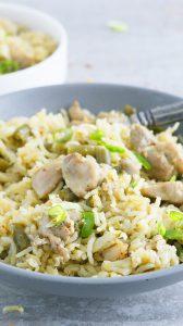 instant pot chicken pesto rice