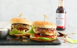 barbecued chicken avocado burger