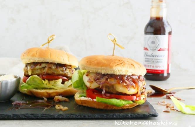 barbecued chicken avocado burger
