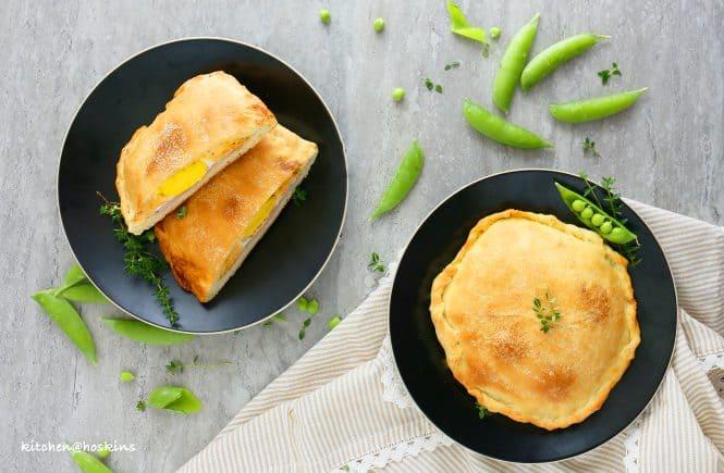 ham egg and cheese calzones