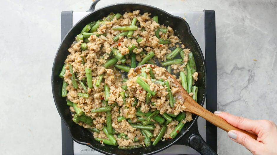 chicken and green beans stir fry