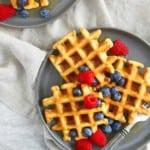 easy healthy gluten free oat waffles