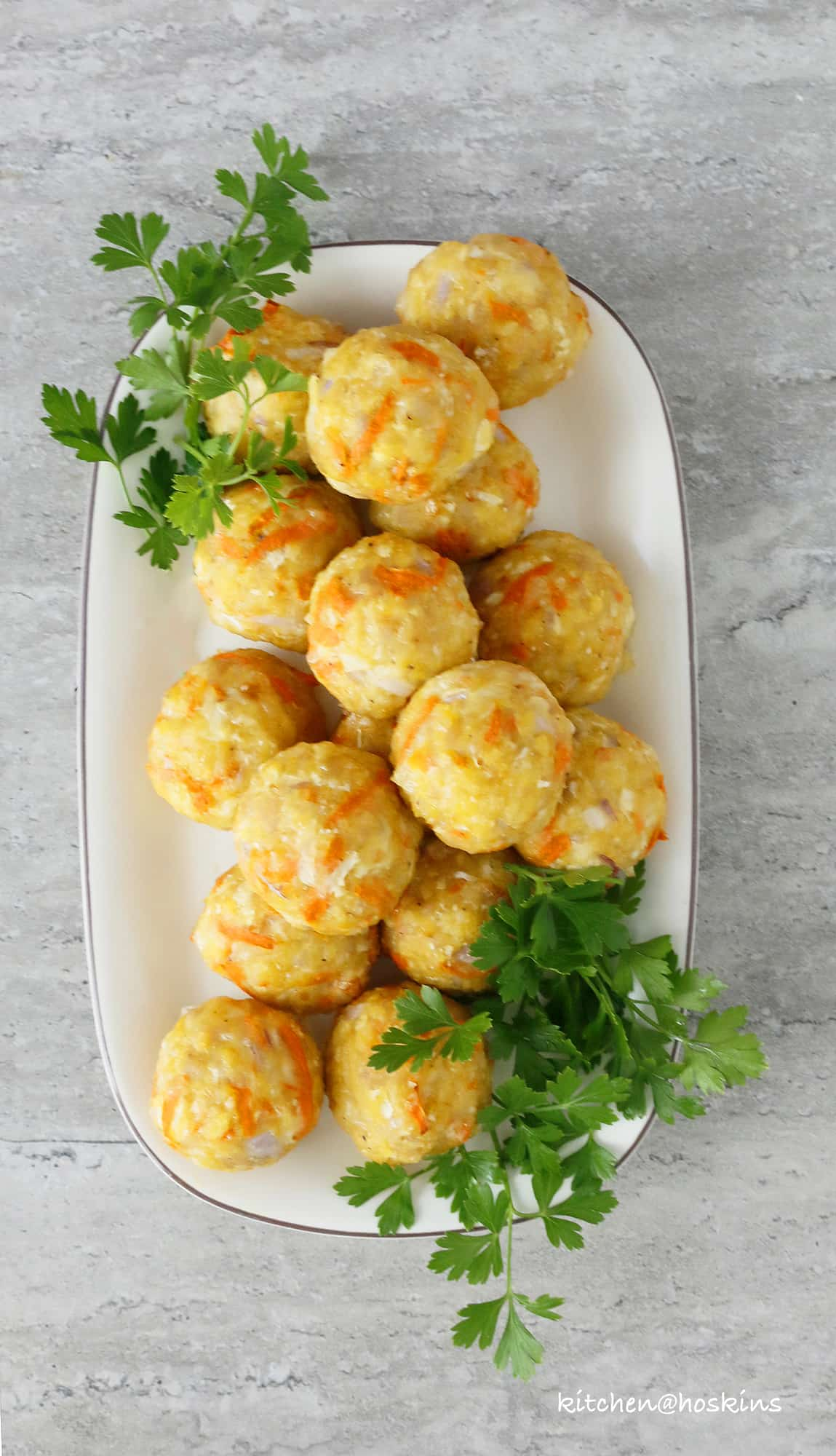 healthyish baked chicken meatballs