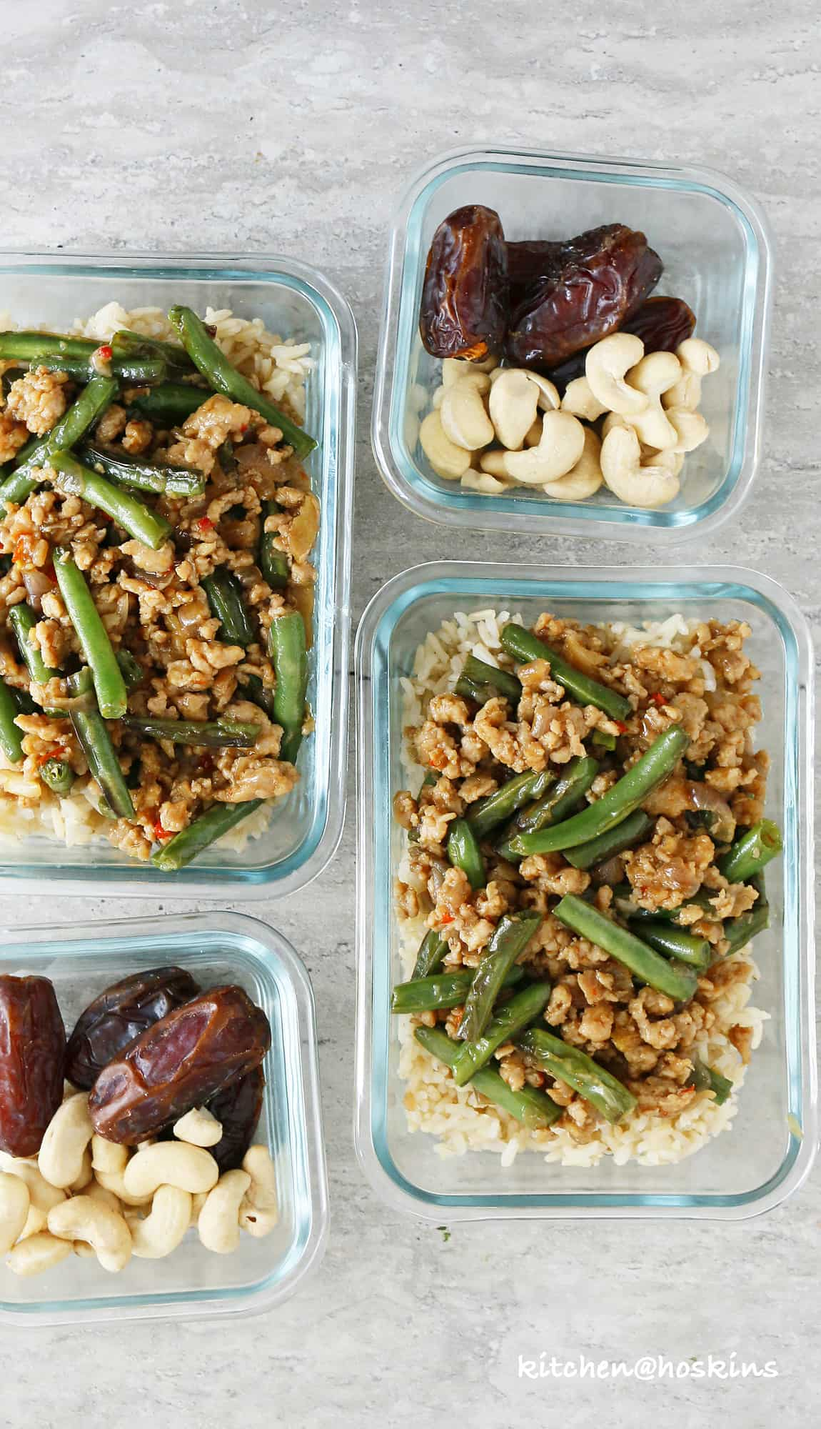 honey soy chicken and green beans stir fry