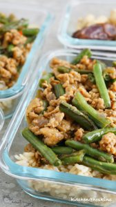 honey soy chicken green beans stir fry
