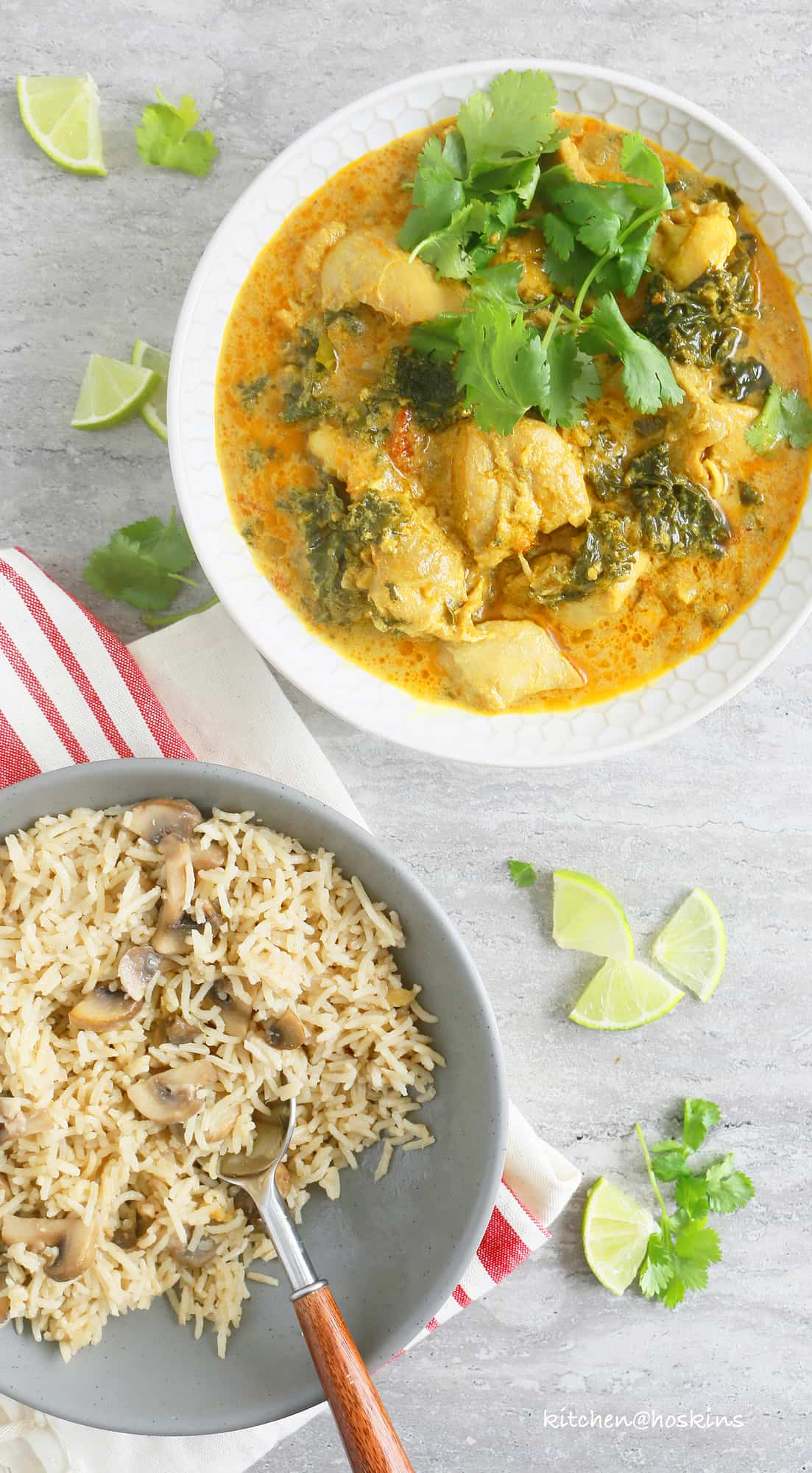 instant pot chicken and kale curry