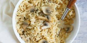 instant pot mushroom coconut rice pilaf