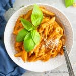 instant pot no-cream pasta with tomato cream sauce