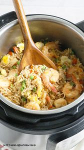 INSTANT POT SHRIMP FRIED RICE