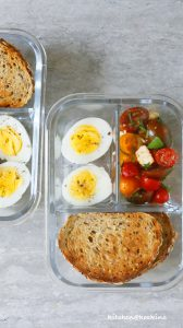 caprese with garlic toast lunch box