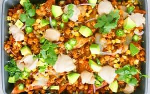 loaded bbq chickpea wonton nachos