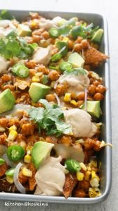 loaded bbq chickpea wonton nachos