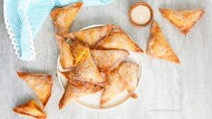 pumpkin churro wontons
