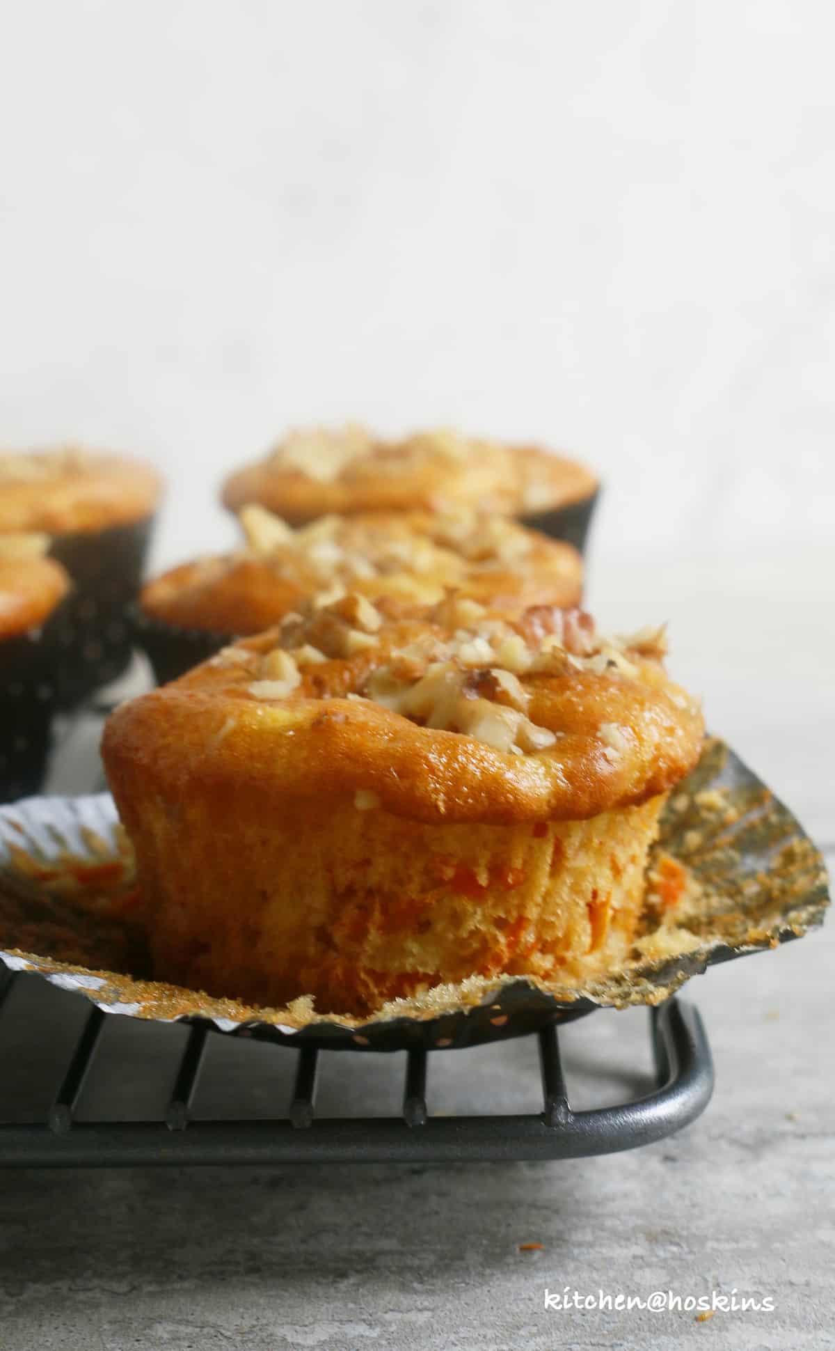 carrot parsnip muffins