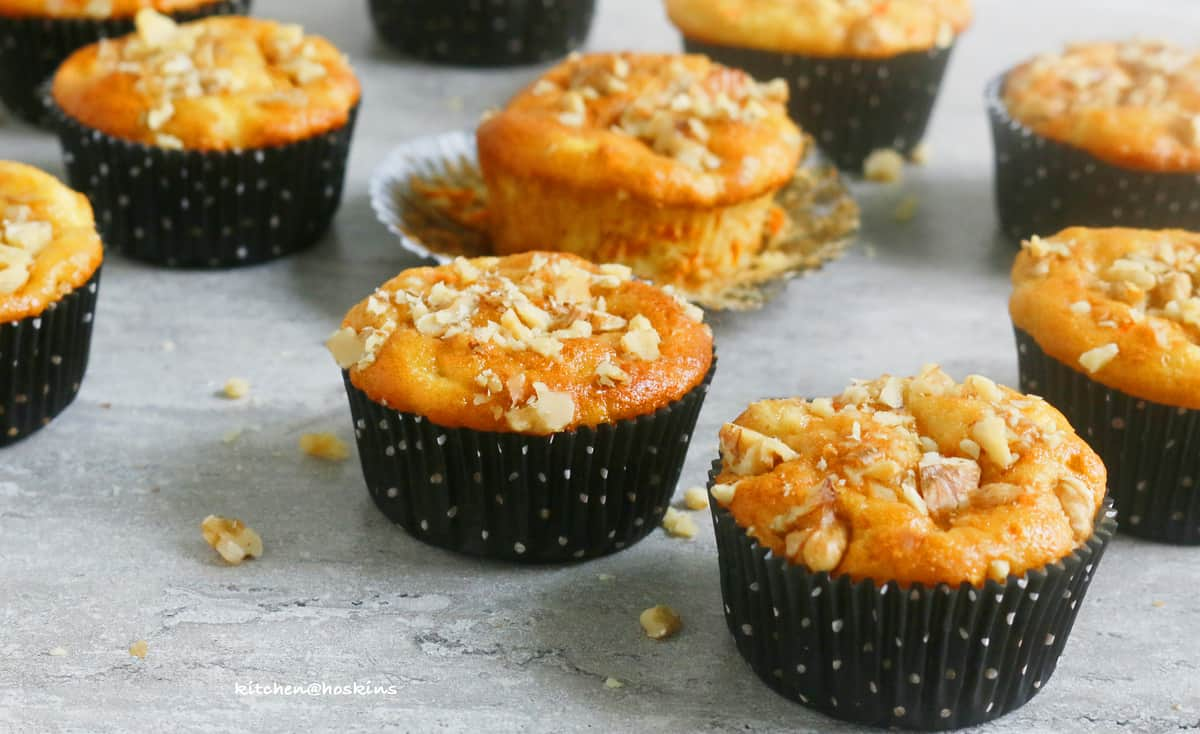 carrot parsnip muffins