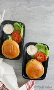 baked chicken burger with sneaky veggies