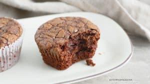 gluten free nutella brownie muffins