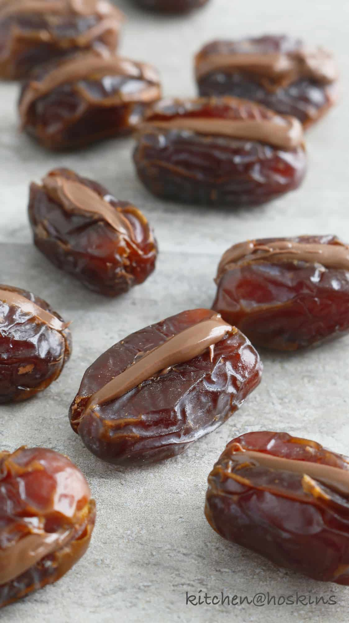 nutella stuffed dates