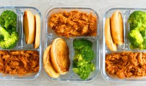instant pot chicken parmesan sandwich meal prep