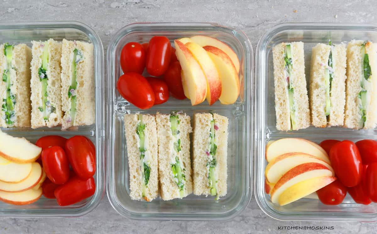 Cucumber Sandwiches Meal Prep