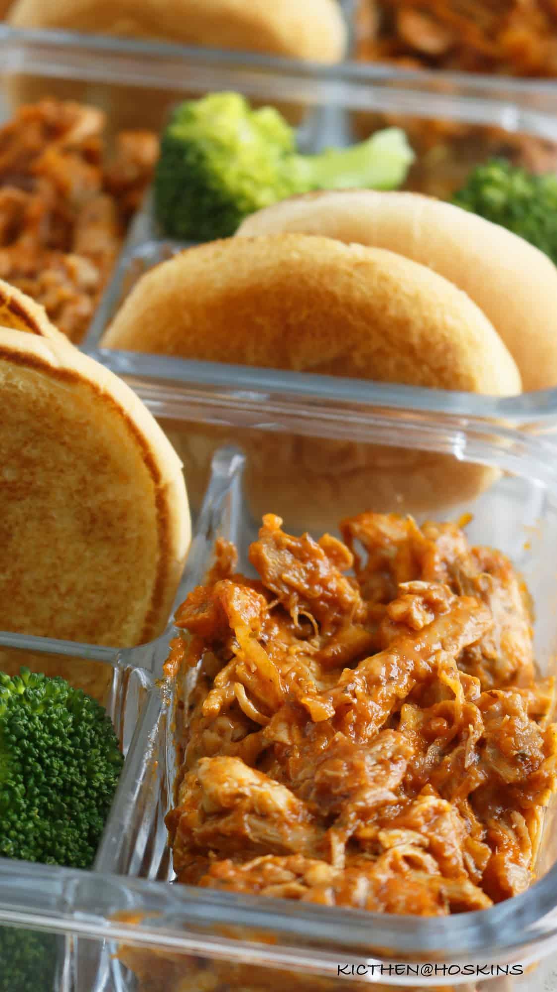 instant pot chicken parmesan sandwich meal prep