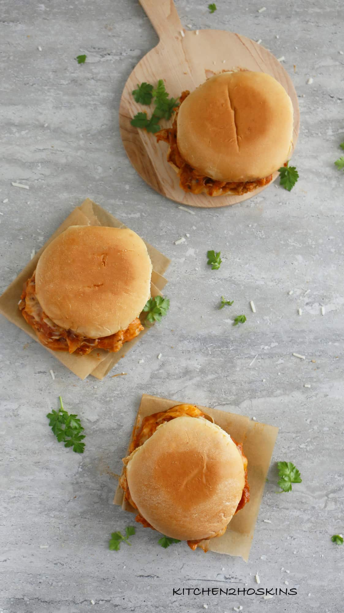 instant pot chicken parmesan sandwiches