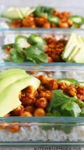 4 ingredient salsa chickpeas meal prep