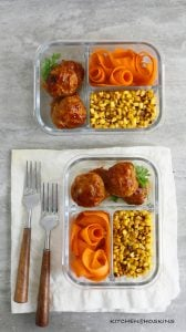 BAKED BARBECUE CHICKEN MEATBALLS WITH AVOCADO