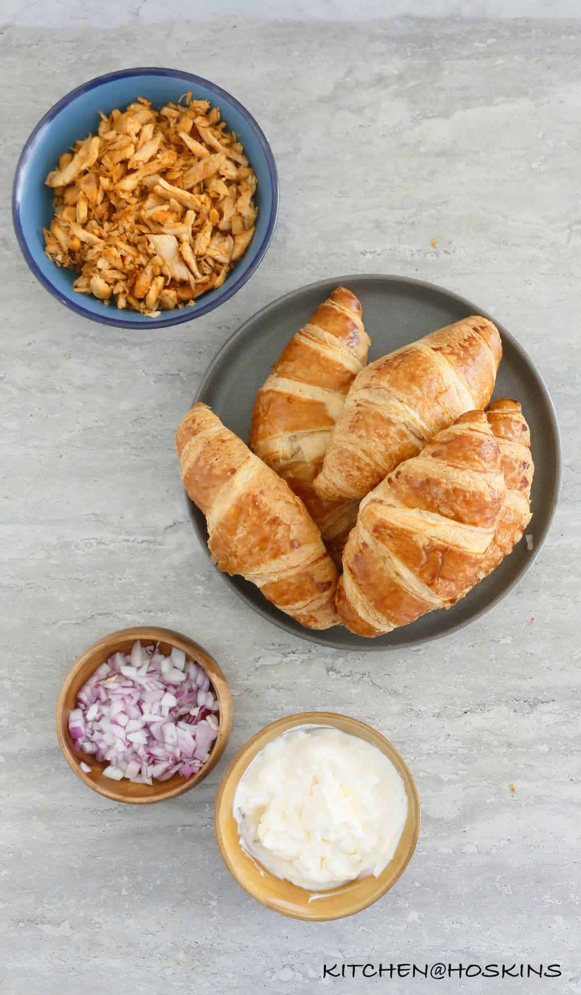 ROTISSERIE CHICKEN SALAD SANDWICH WITH AVOCADO
